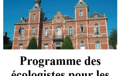 Les écologistes d'OLLN publient leur programme électoral 2019-2024