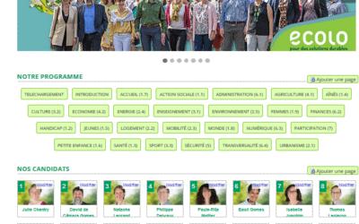 Un site de campagne pour Ecolo-OLLN